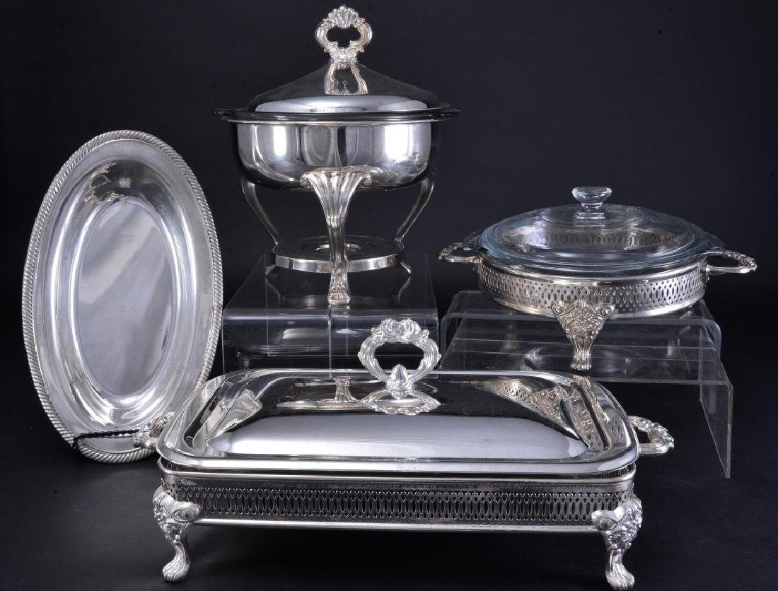 4 Pieces Silverplate Serving Pieces