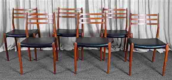6 Niels Otto Moller #78 Teak Side Dining Chairs