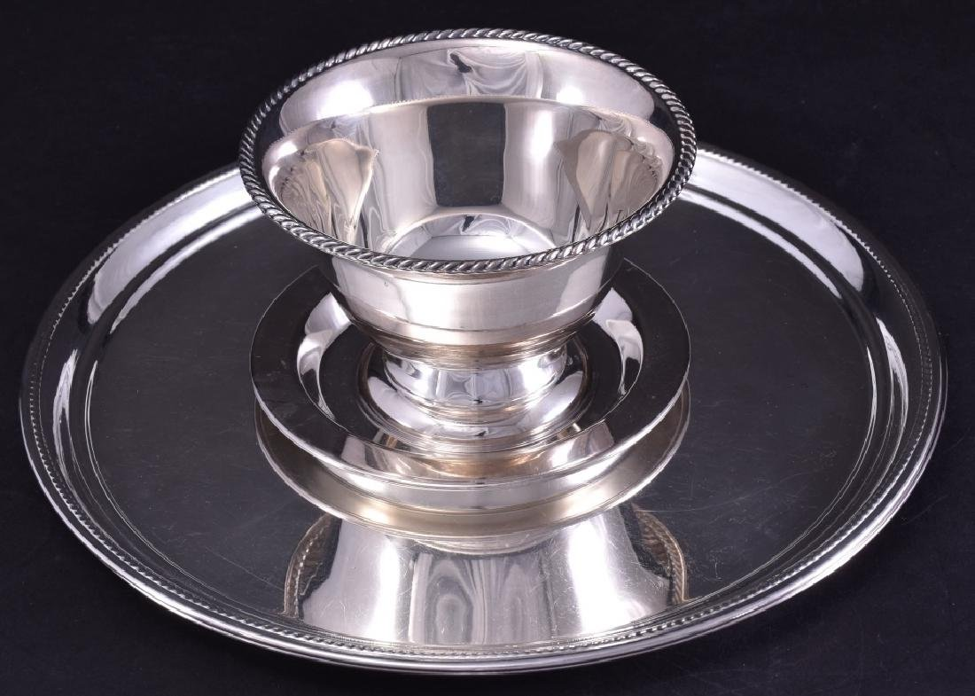 Silverplate Trays & Pedestal Compote