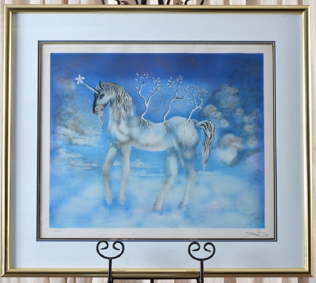 Dali Cheval Allegre aka Happy Unicorn Etching