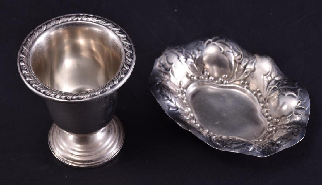 Sterling Silver Cigarette Holder & Pin Dish