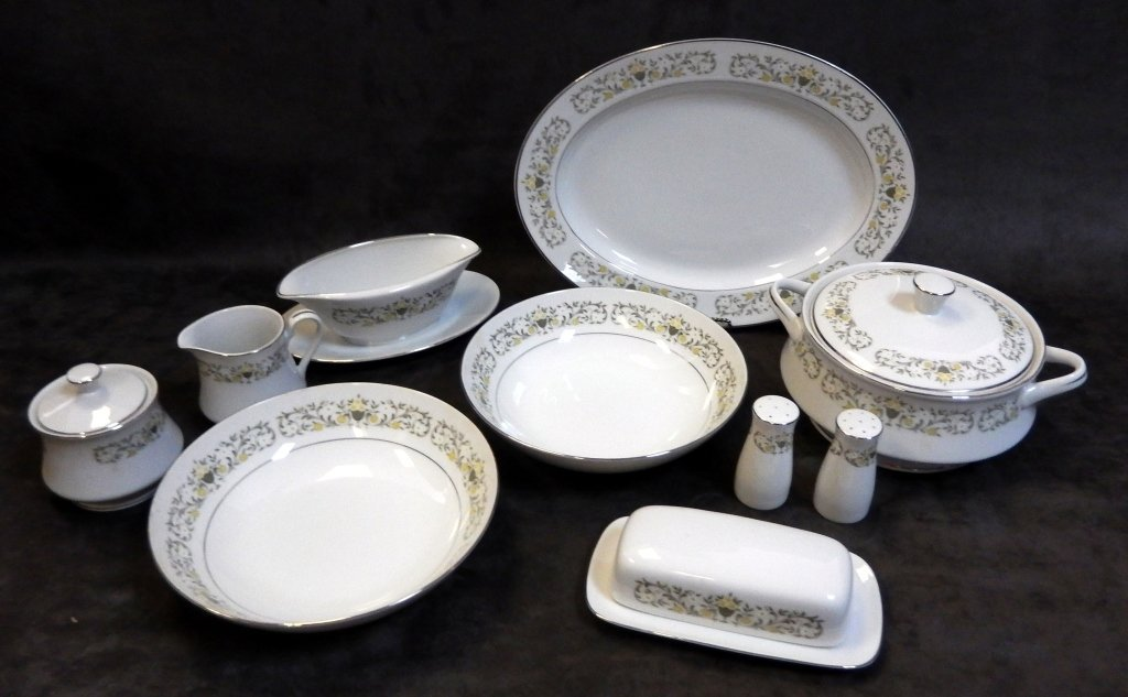 13 Pcs. Japanese Sterling China Serving Pieces
