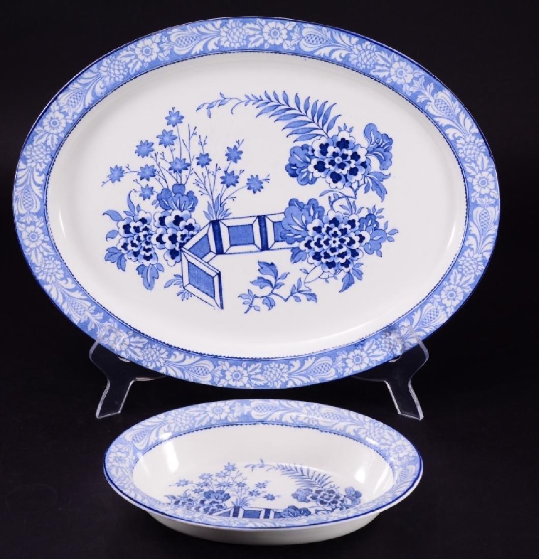 English Wincanton Wood's Ware Oval Bowl & Platter