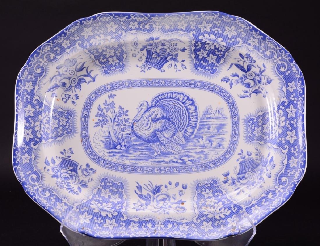 Blue & White Spode Festival Turkey Platter