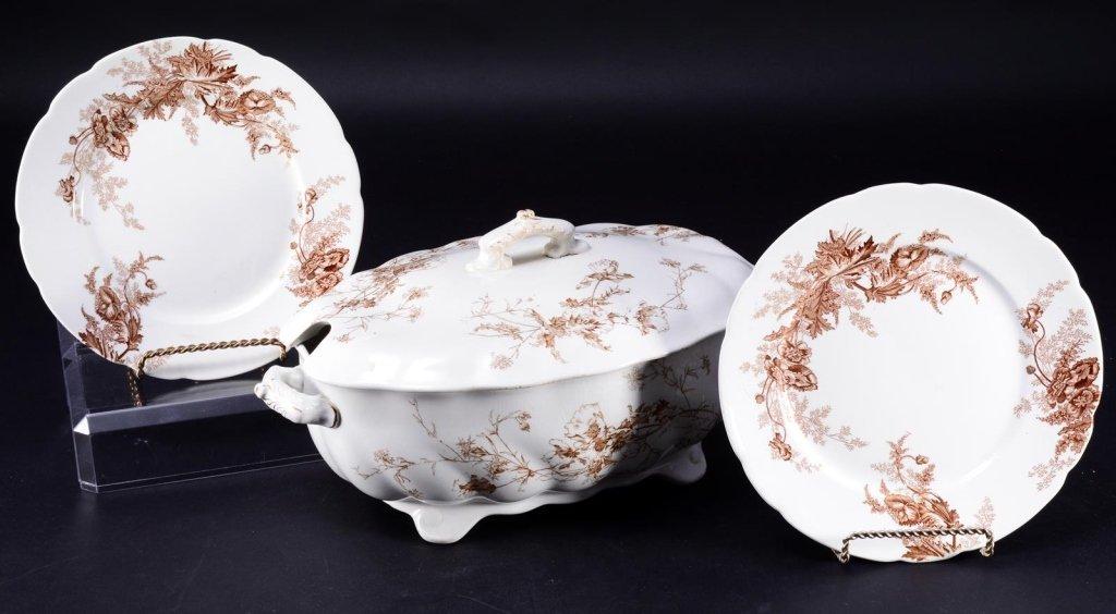 Doulton Covered Tureen & Paris Royal Plates