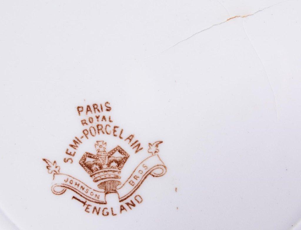 Doulton Covered Tureen & Paris Royal Plates - 7