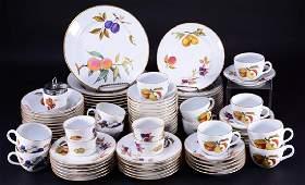 91 Pcs. Royal Worcester Evesham English Dinnerware