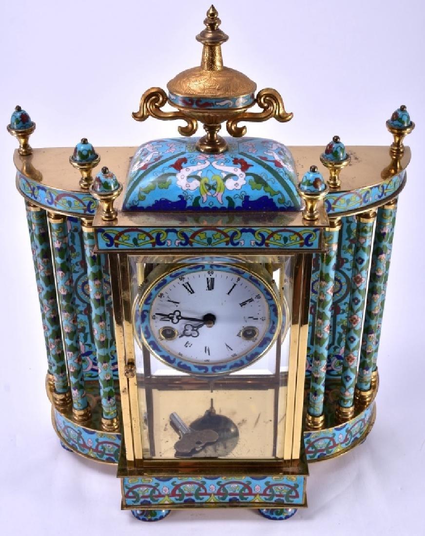 Vintage Chinese Cloisonné' Clock - 2