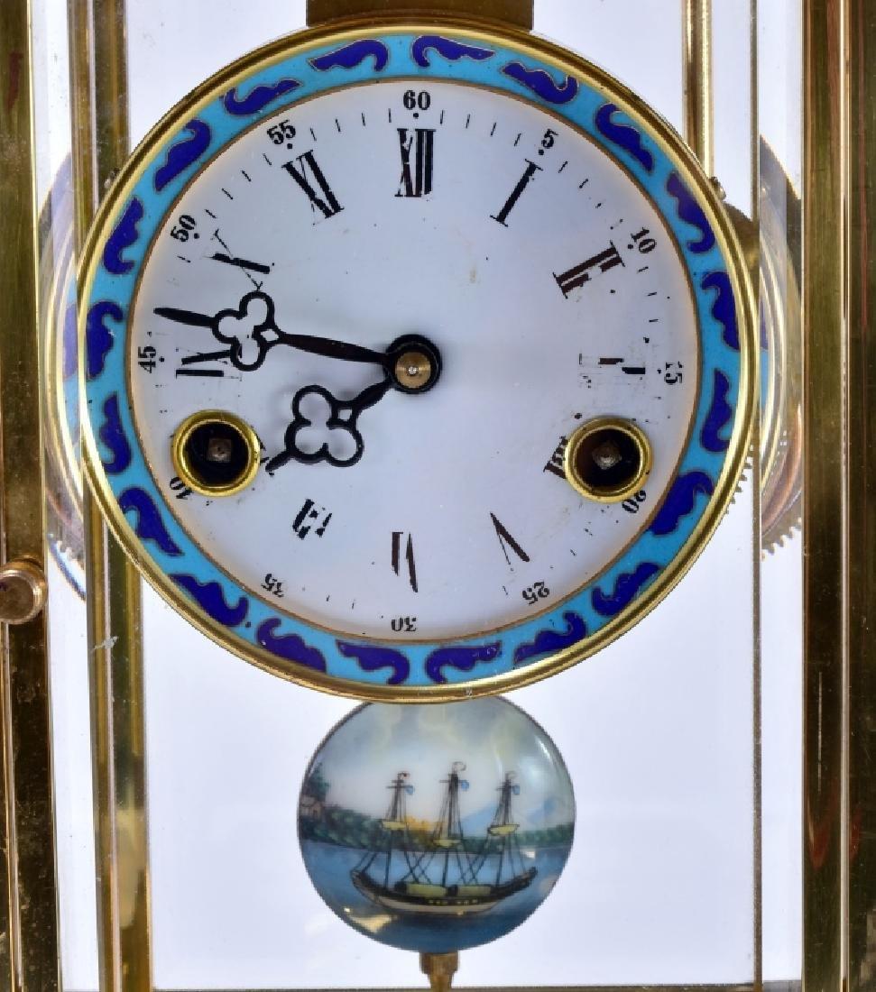 Vintage Chinese Cloisonné' Clock - 4