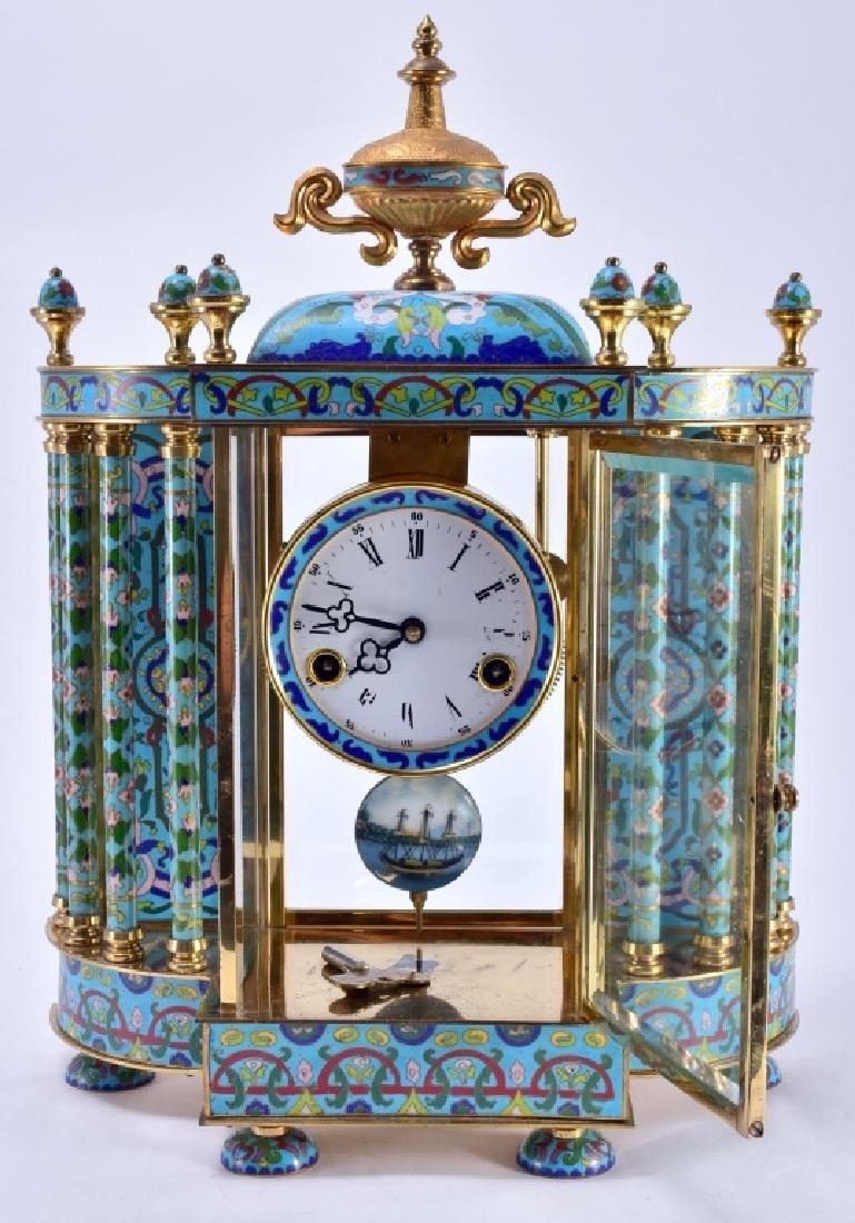 Vintage Chinese Cloisonné' Clock - 8