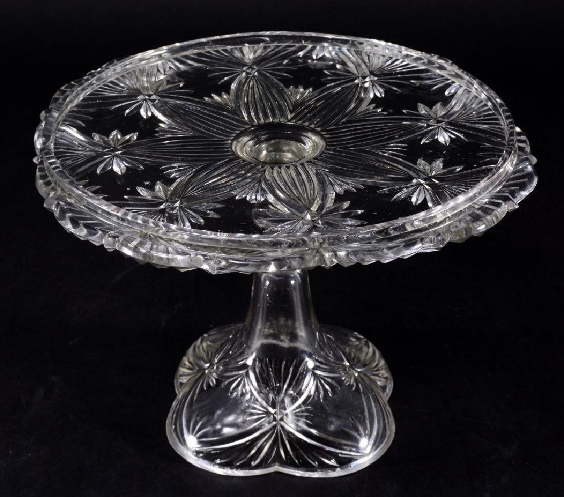 Tied Sheaf EAPG Cake Stand w/Collar