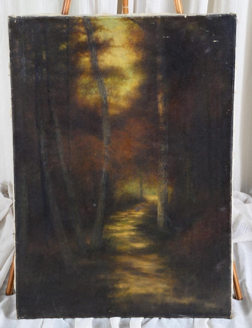 Signed Ben Austrian Path in the Wood Painting
