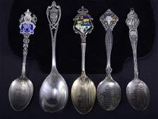 5 Sterling Souvenir Spoons