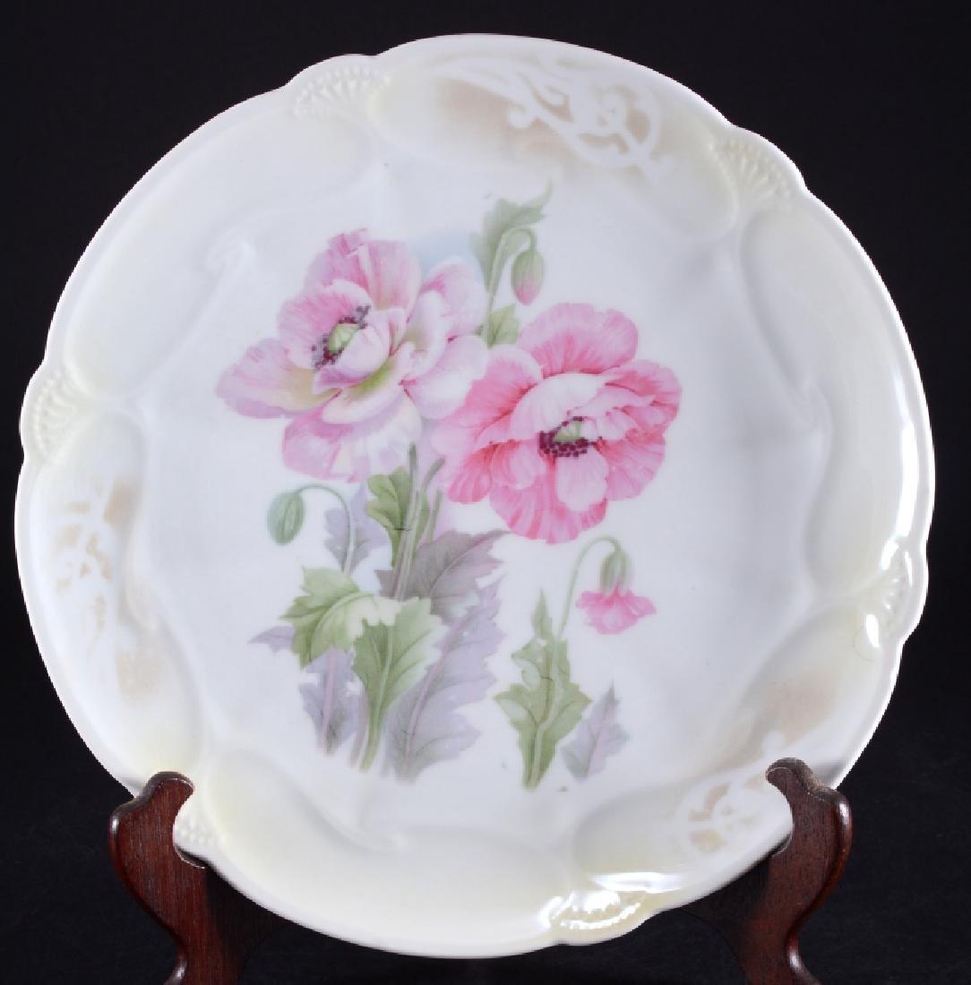 German Floral Porcelain Charger