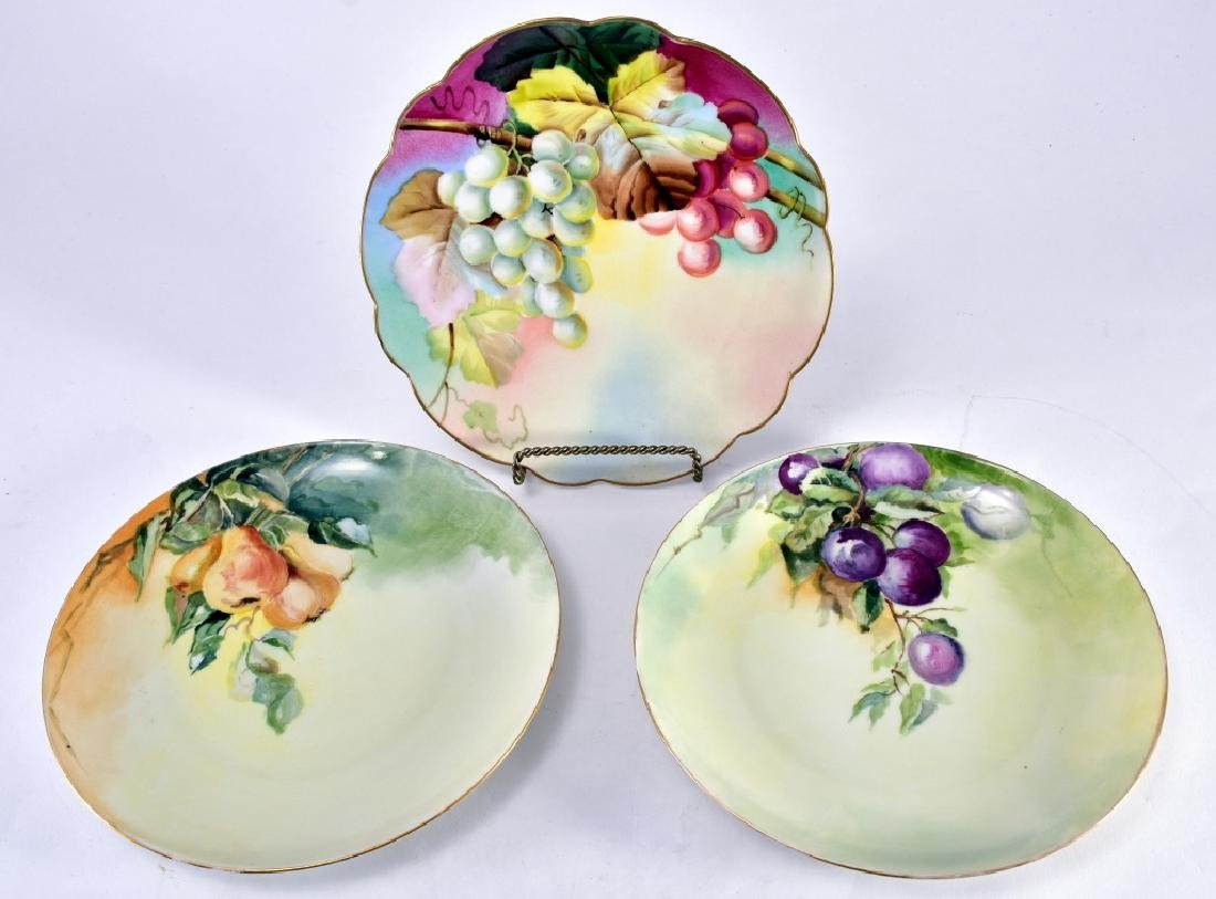 Trio Hand Painted Fruit Plates
