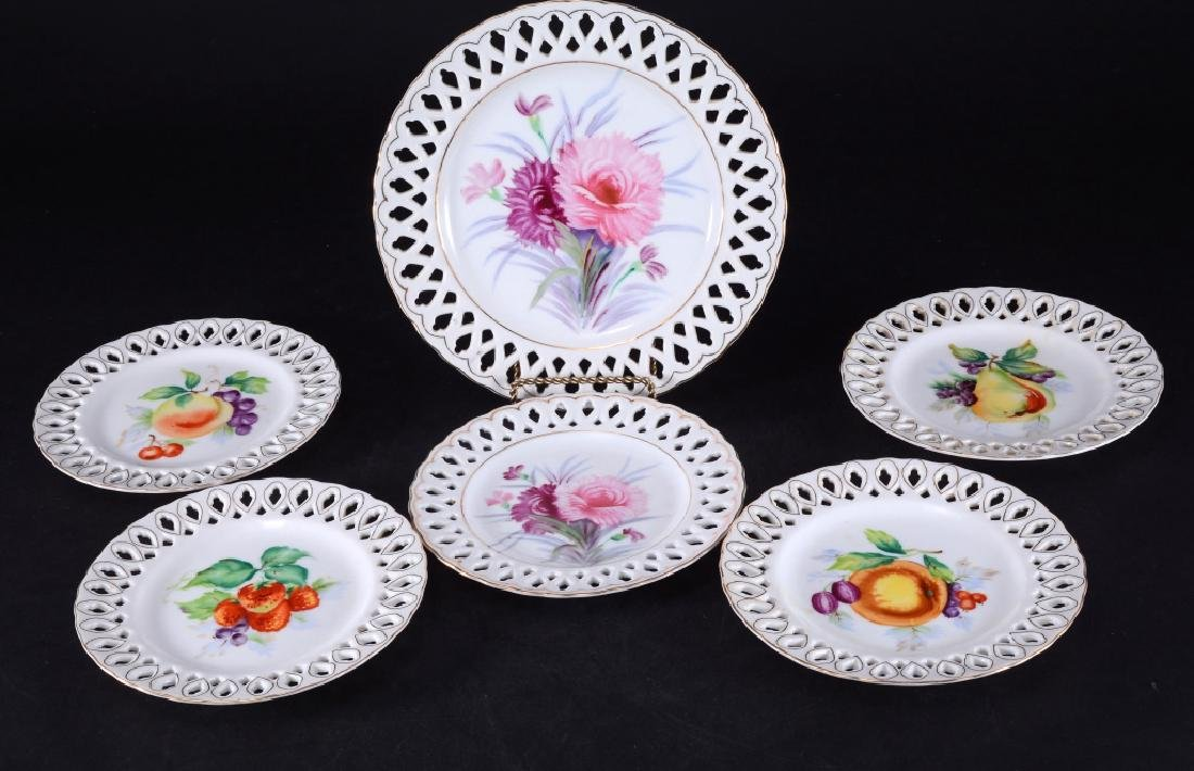 Occupied Japan Rossetti & AIYO Reticulated Plates