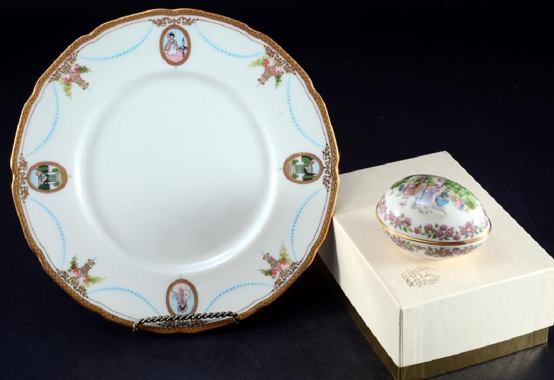 Lenox Easter Egg & Virginian Scalloped Plate