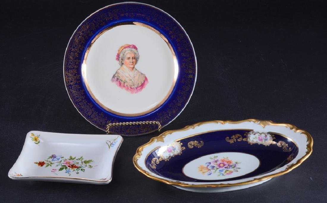Reichenbach Oval Dish, Capsco Plate & Pin Dish