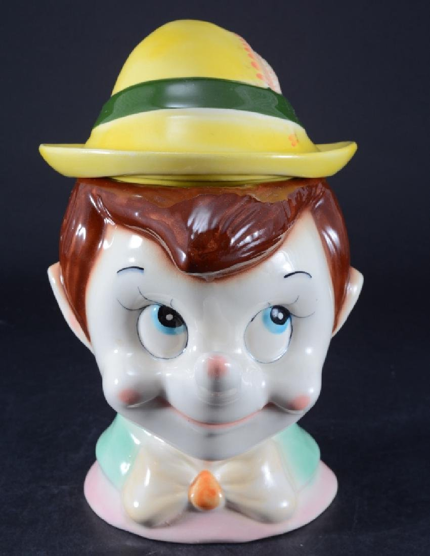 Smiling Pinocchio Cookie Jar w/Tyrolean Hat
