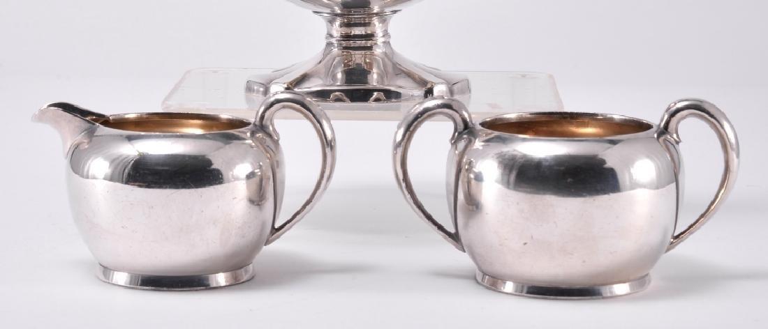 Silverplate Teapot, Cream & Sugar - 2