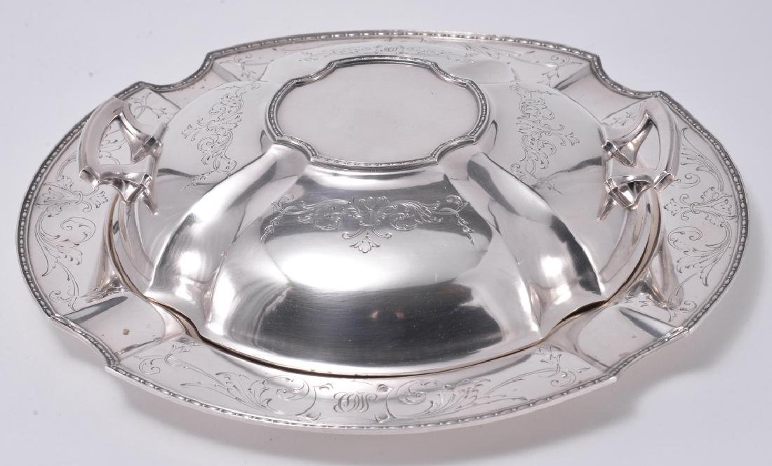 Silverplate Dish and Platter w/Lid