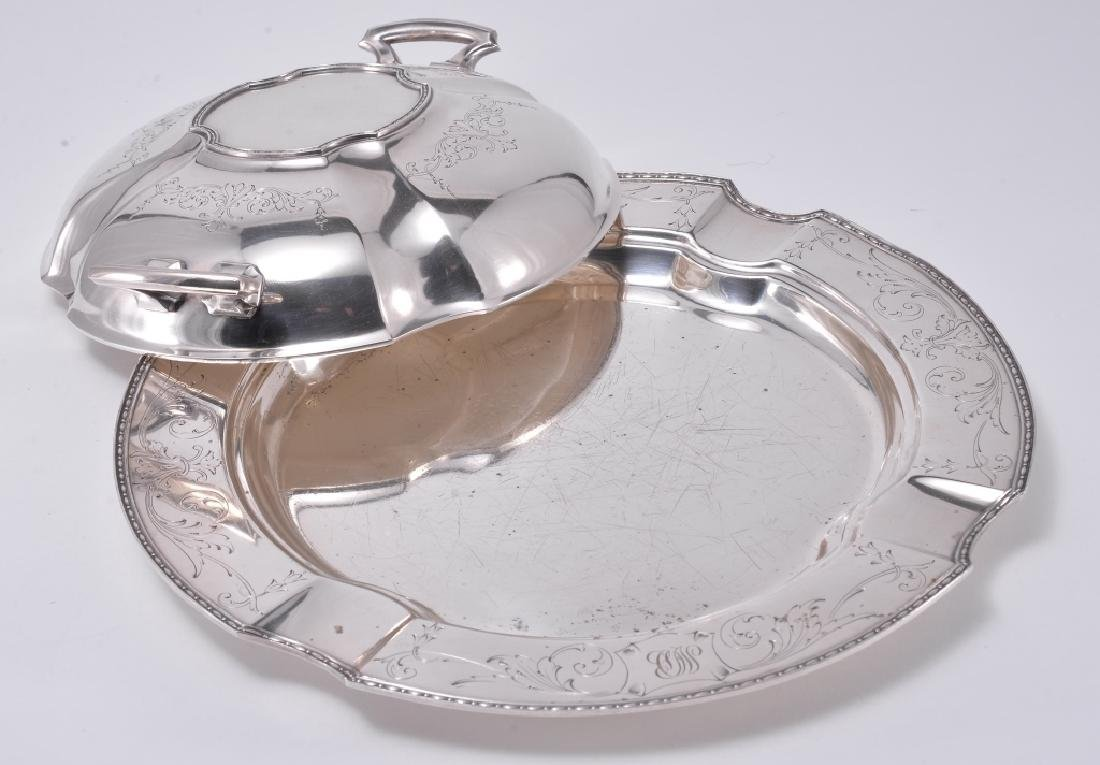 Silverplate Dish and Platter w/Lid - 2