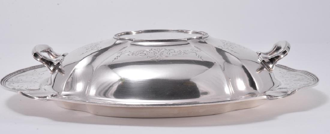 Silverplate Dish and Platter w/Lid - 3