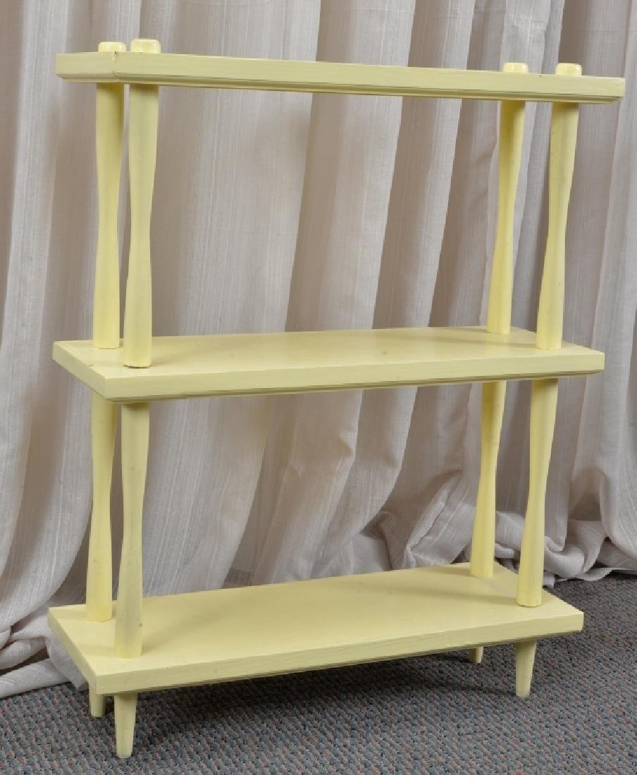 Yellow Bookcase w/One Shelf