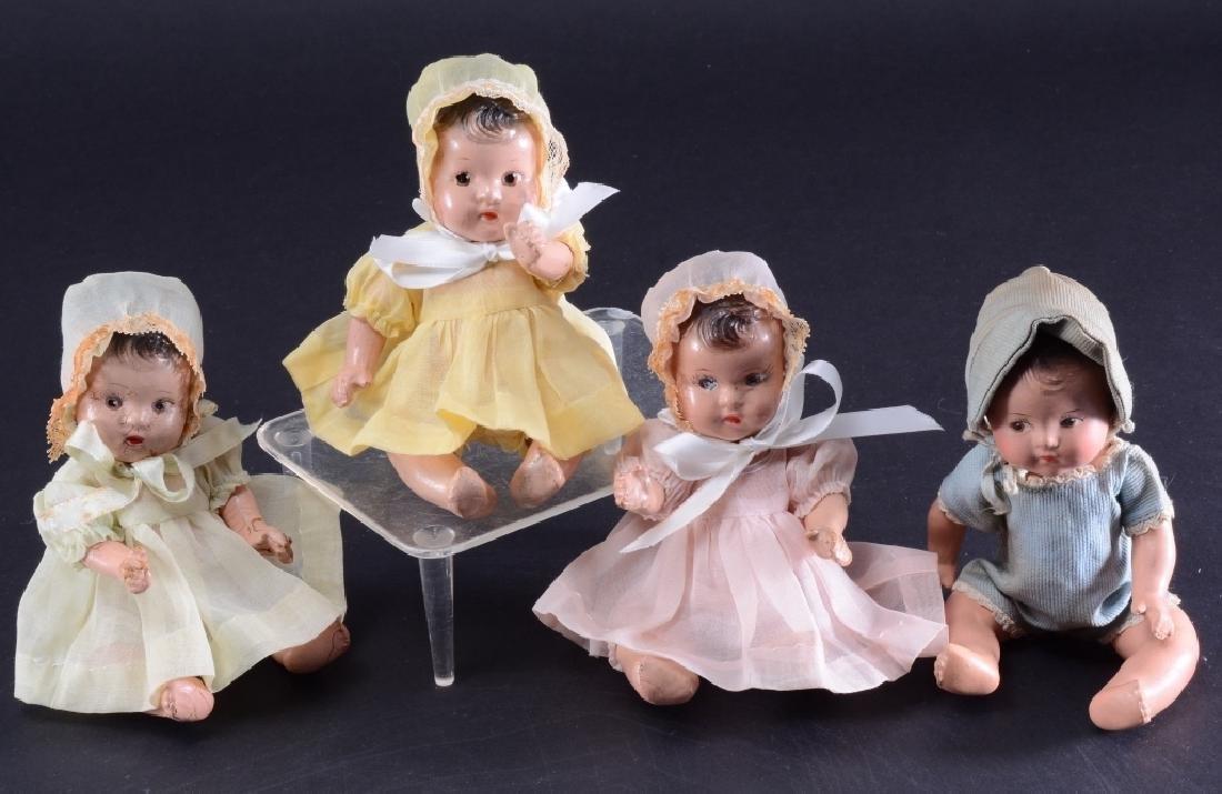 4 Madame Alexander Dionne Quintuplet Dolls