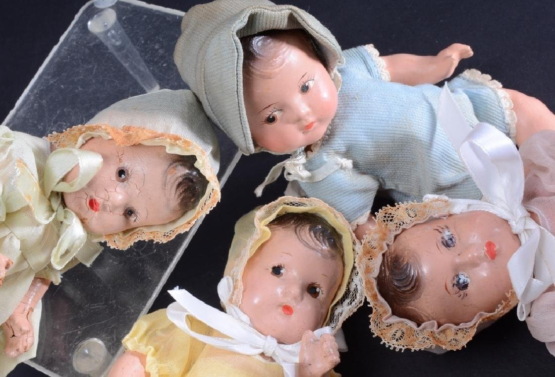 4 Madame Alexander Dionne Quintuplet Dolls - 3