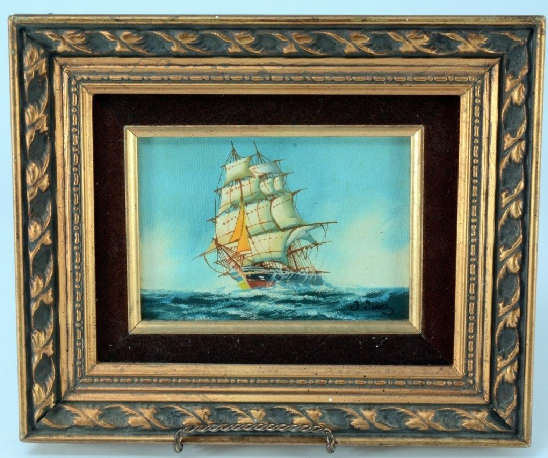 "J. James ""Clipper"" Oil Painting"