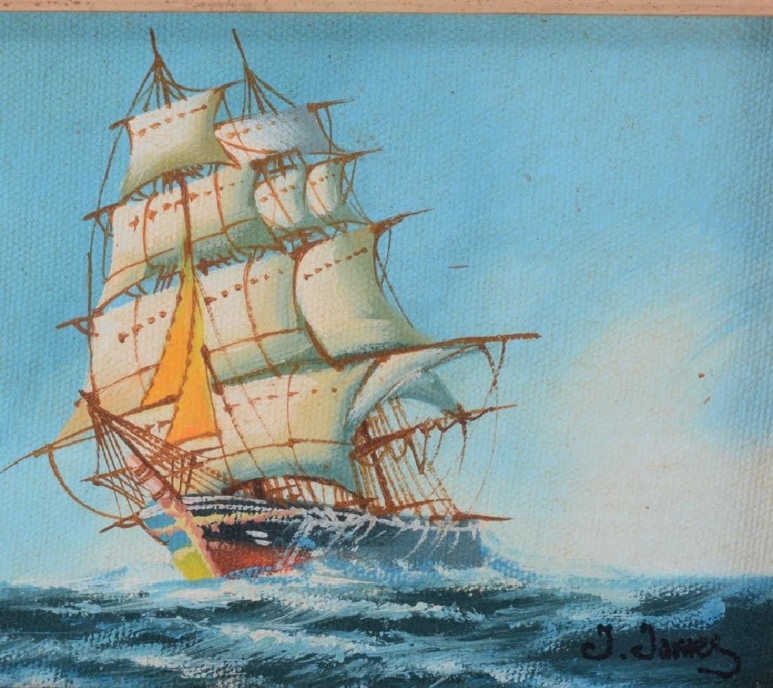 "J. James ""Clipper"" Oil Painting - 2"