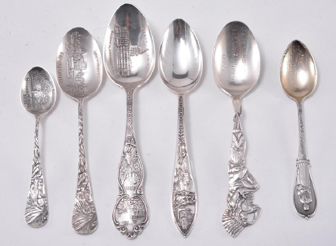 6 Sterling Silver Souvenir Spoons