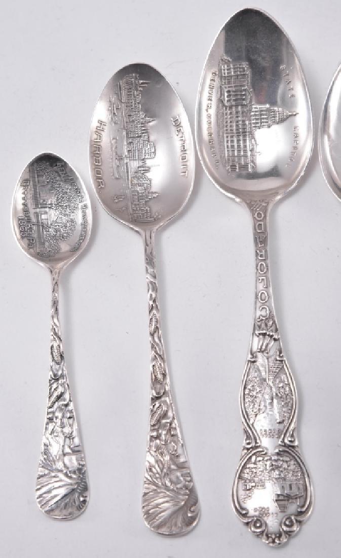 6 Sterling Silver Souvenir Spoons - 2