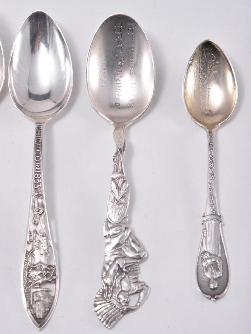 6 Sterling Silver Souvenir Spoons - 3