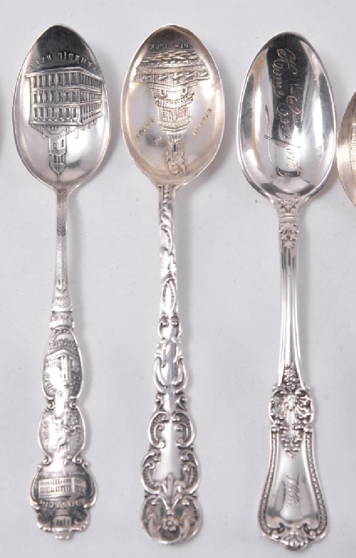 10 Sterling Silver Souvenir Spoons - 3