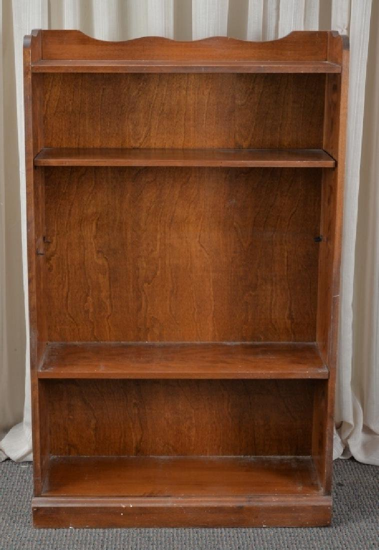 Wooden Bookcase w/3 Wooden Shelves - 2