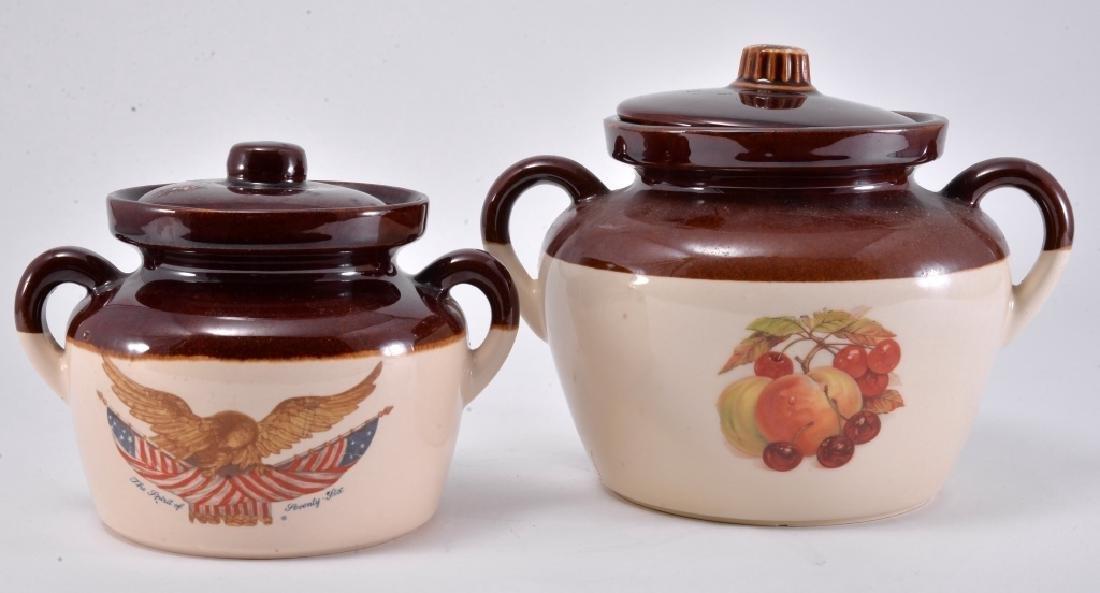 2 McCoy Bean Pots