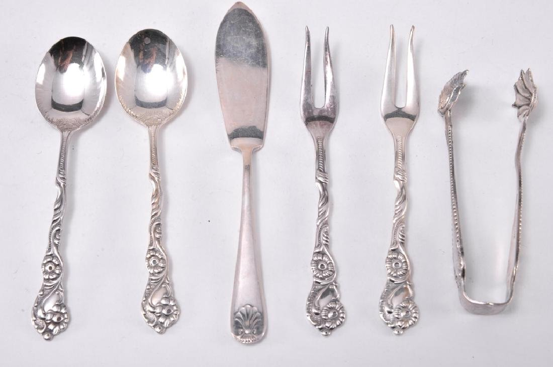 Silverplate Cocktail Forks, Spoons, Tongs & More