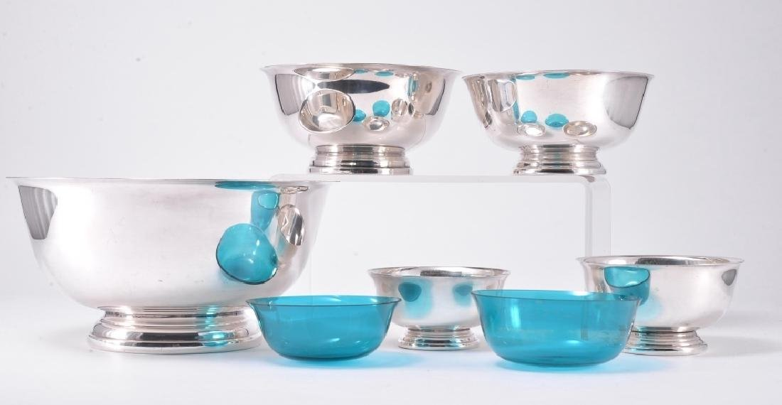 5 Revere Style Silverplate Bowls - 3