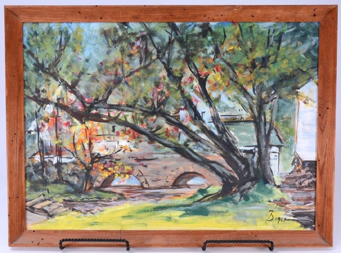 Landscape Painted on Panel