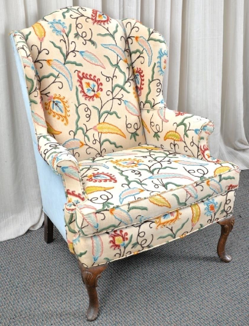 Crewel Wing Back Chair