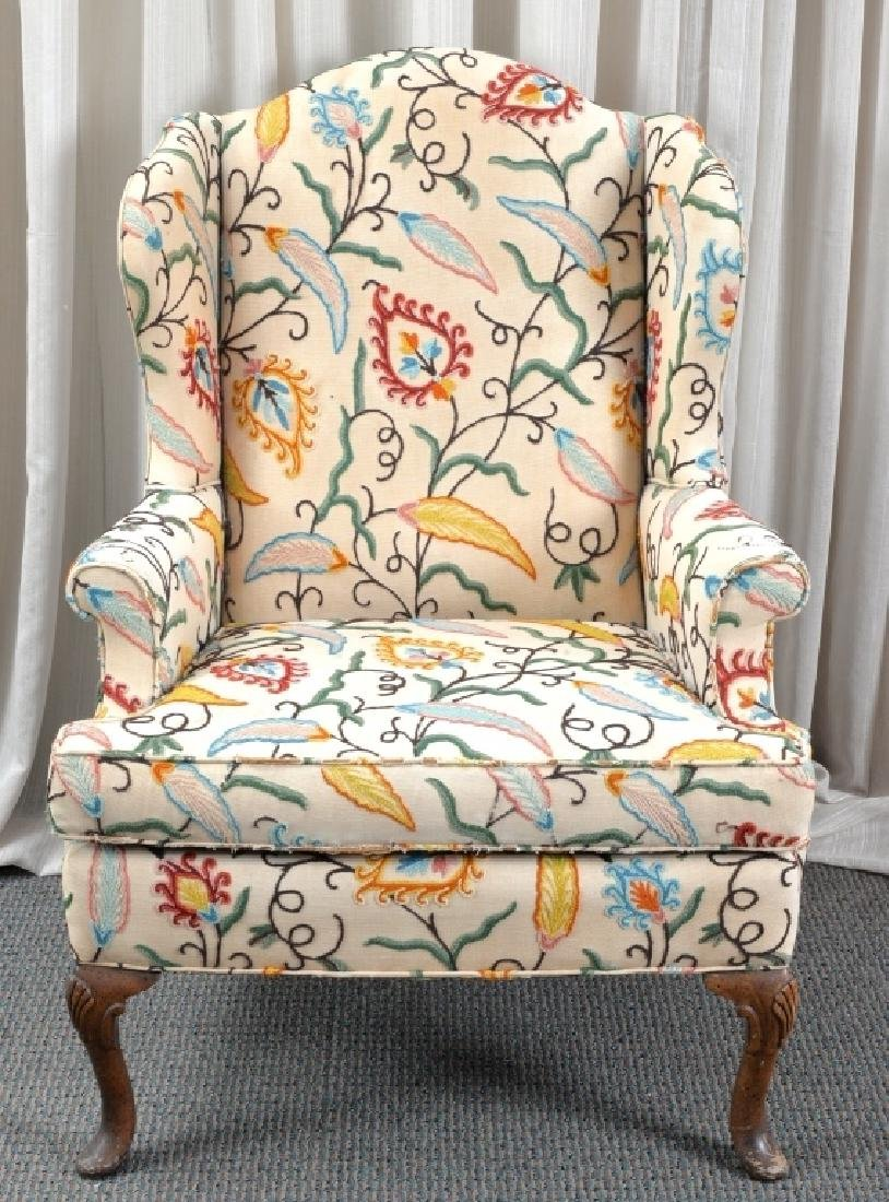 Crewel Wing Back Chair - 2