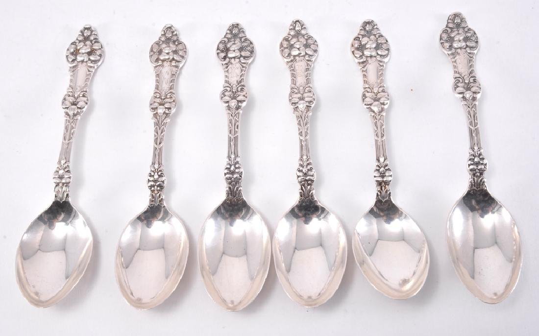 "6 Sterling Alvin ""Orange Blossom"" Teaspoons"