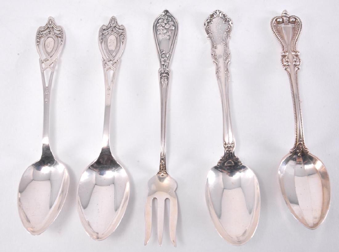"6 Sterling Alvin ""Orange Blossom"" Teaspoons - 3"