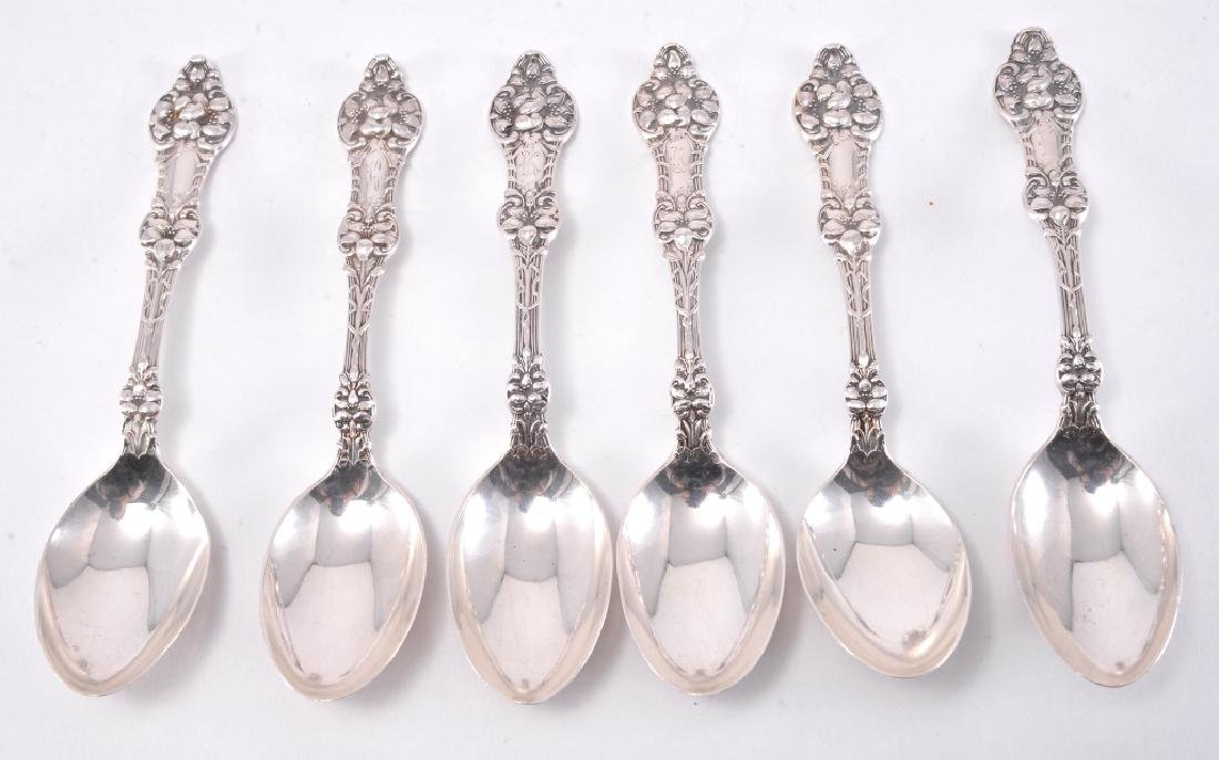 "6 Sterling Alvin ""Orange Blossom"" Teaspoons - 4"