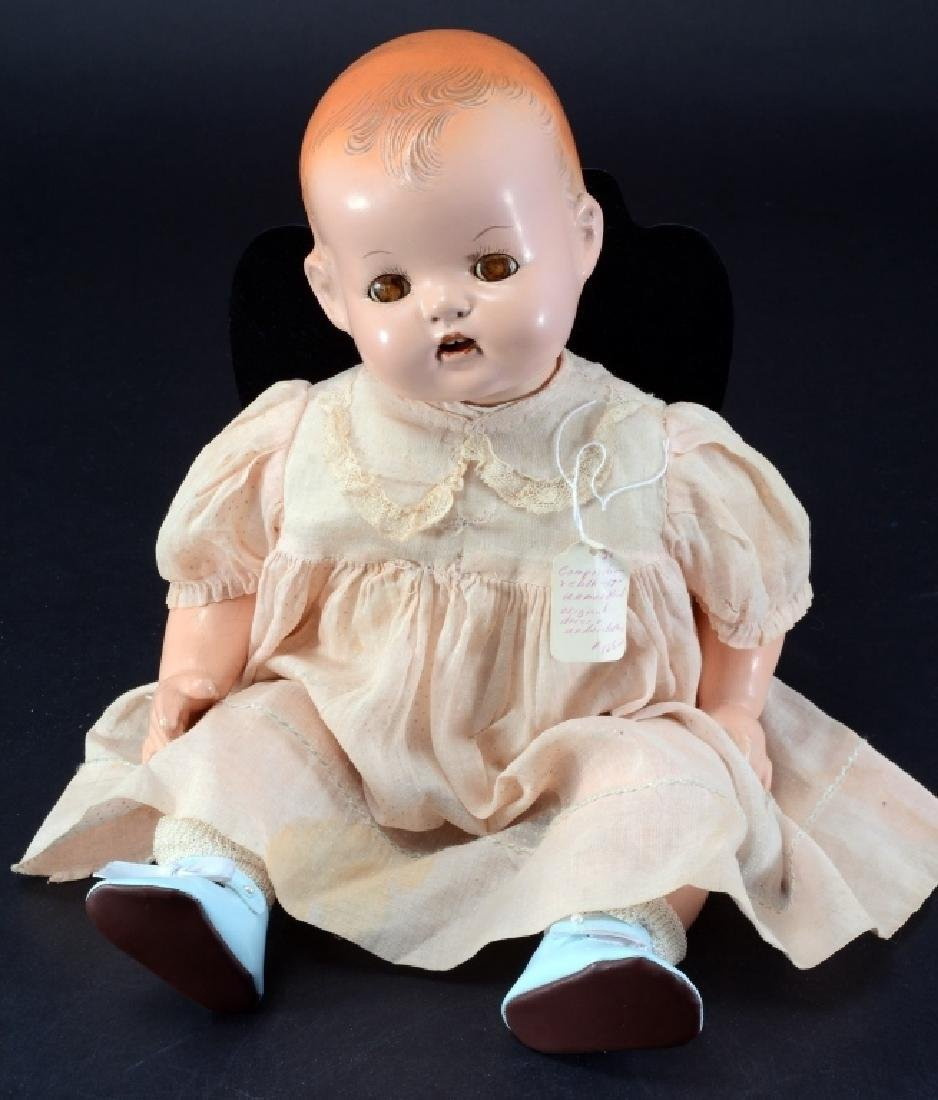 """Unmarked 16"""" Tall Composition Doll"""