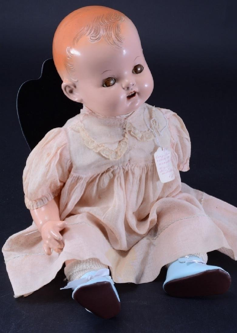 "Unmarked 16"" Tall Composition Doll - 3"