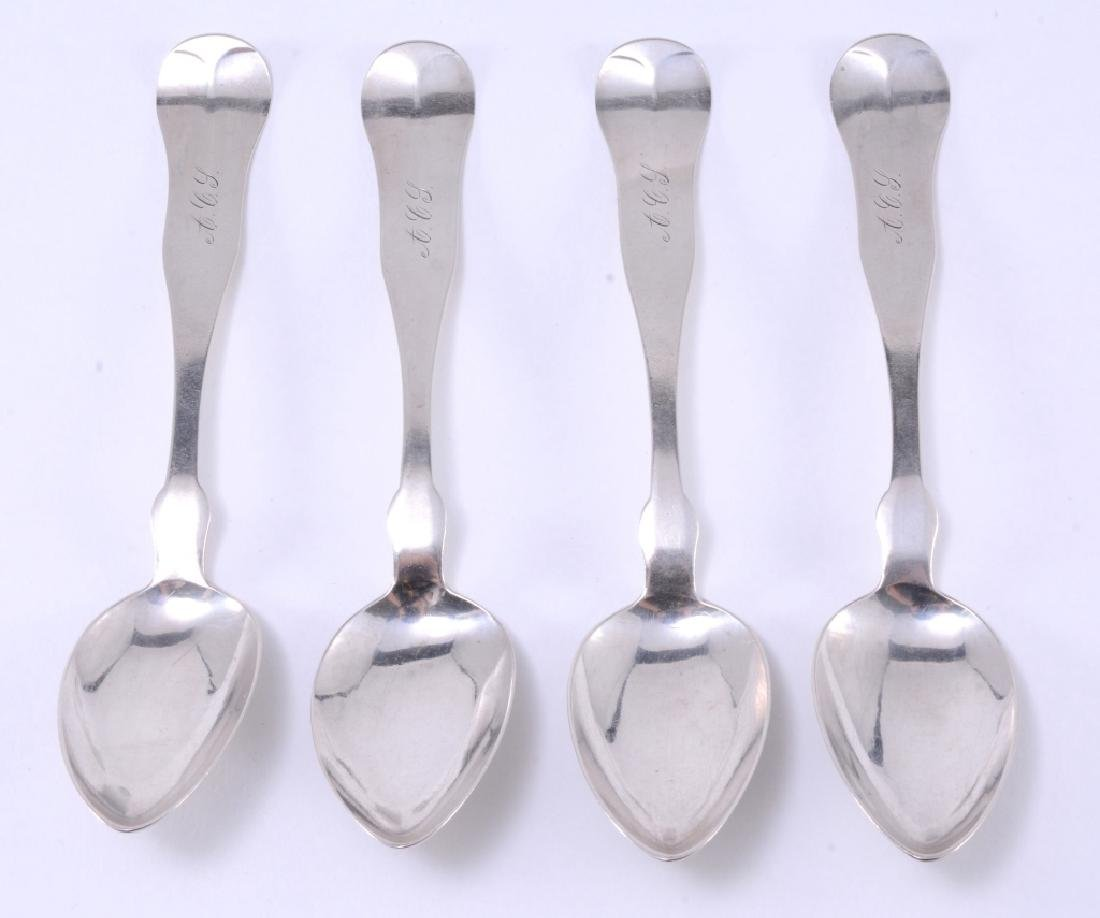4 C.T. Emery Coin Silver Spoons