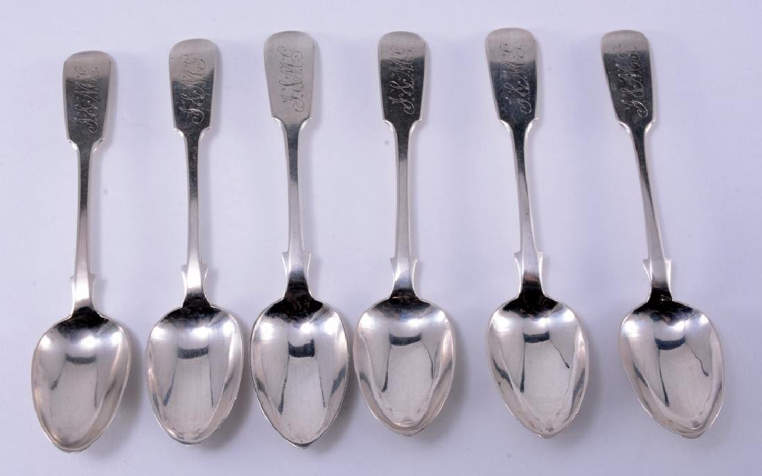 6 WD McC Coin Silver Spoons